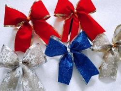 Новогодние банты, ленты, ткани