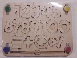 Пазл - цифра деревянной