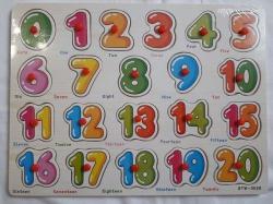 Деревянная игрушка цифра пазл-сортер