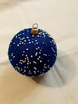 Шар со снегом игрушка на елку
