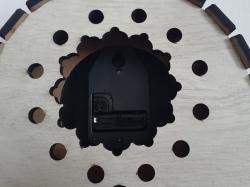 Каминные деревянные часы