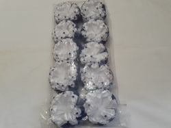 Бант на резинке из синими камнями