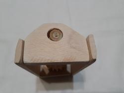 Массажер деревянной на один роликовой 15 см