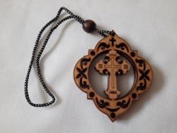 Подвеска Крест деревянной