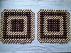 Квадратная деревянная накидка на кресло