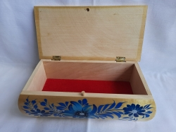 Шкатулка деревянная расписная 21х10