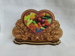Салфетка деревянная из рисунком