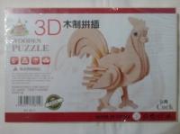 3D пазл петух