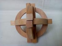 Головоломка деревянная Штурвал