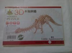 """Деревянный 3D пазл """"Стегозавр"""""""