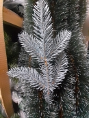 Новогодние искусственные голубые литые ветки №4
