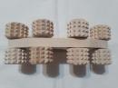 Роликовый деревянной массажер