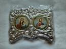 Иконы Иисуса Христа и Богородицы из ножкою