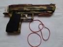 Пистолет стреляющий резинками 23 см