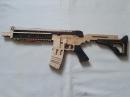 Деревянный автомат стреляющий резинками №2