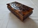 Шкатулка деревянная 21см