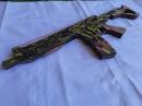 Деревянный автомат стреляющий резинками №3