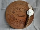 Доска для пиццы с резаком 28 см